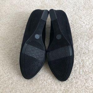 Merona Shoes - Merona Ellen Wedges in Black Faux Suede